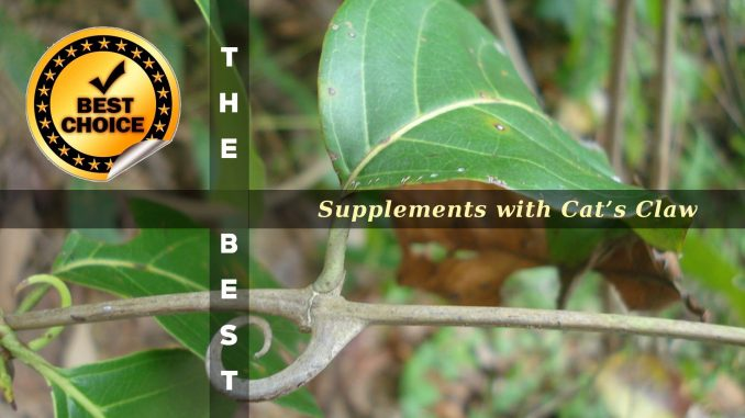 The Supplements with Cat's Claw