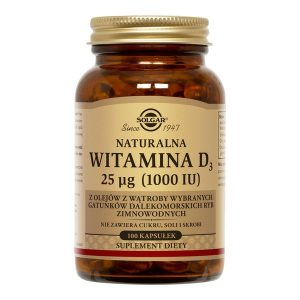 Solgar Naturalna Witamina D3 25 µg (1000 IU), kapsułki, 100 szt. / (Solgar Vitamin & Herb)