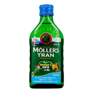 Mollers Tran Norweski, aromat owocowy, 250 ml / (Orkla Care S.A.)