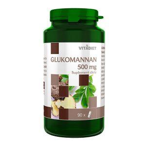 Glukomannan, 500 mg, kapsułki, 90 szt. / (Vitadiet)