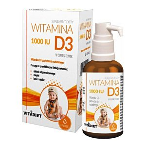 Witamina D3 1000 IU, krople, 29,4 ml / (Vitadiet)