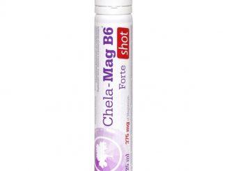 Olimp Chela-Mag B6 Forte Shot, płyn w ampułce o smaku wiśniowym, 25 ml, 1 szt. / (Olimp Laboratories)