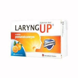 Laryng Up Orange, tabletki do ssania bez cukru, 24 szt. / (Recordati)