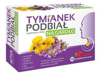 Tymianek Podbiał, pastylki, 16 szt. / (Actus Pharma)