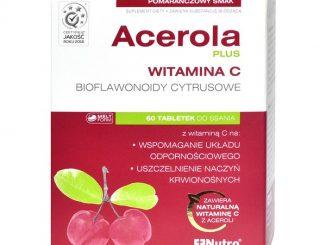 Acerola Plus, tabletki do ssania o smaku pomarańczowym, 60 szt. / (Nutropharma)