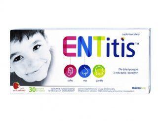 ENTitis, pastylki do ssania, smak truskawkowy, 30 szt. / (Polski Lek)