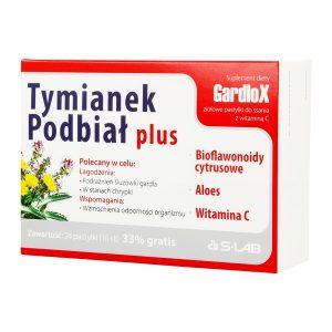 Tymianek i Podbiał plus, pastylki do ssania, 16 szt. + 8 szt. GRATIS / (S-lab)