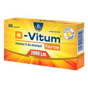 D-Vitum Forte 2000 j.m., kapsułki z witaminą D dla dorosłych, 60 szt. / (Olfarm)