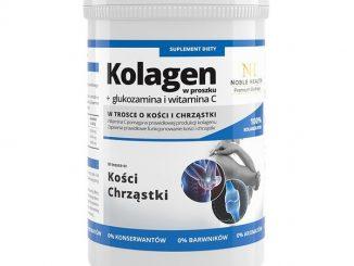 Kolagen + glukozamina i witamina C, proszek, 100 g / (Noble Health)