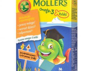 Mollers Omega-3 Rybki, żelki, smak pomarańczowo-cytrynowy, 36 szt. / (Orkla Care)