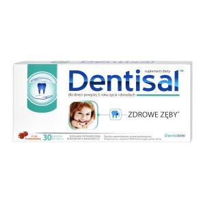 Dentisal, pastylki do ssania o smaku truskawkowym, 30 szt. / (Polski Lek)