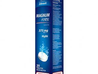 Zdrovit Magnum Forte 375 mg, tabletki musujące, smak cytrynowy, 20 szt. / (Natur Produkt Pharma)
