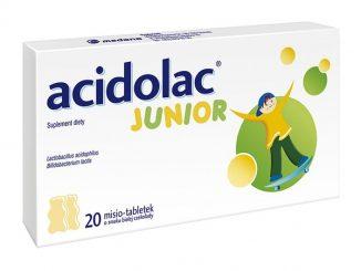 Acidolac Junior, misio-tabletki, o smaku białej czekolady, 20 szt. / (Medana)