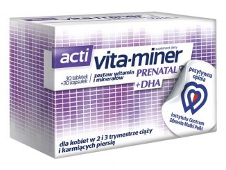 Acti Vita-miner Prenatal DHA, tabletki, 30 szt. + kapsułki, 30 szt. / (Aflofarm)