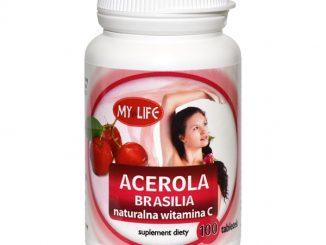 Acerola C Brasilia, naturalna witamina C, tabletki, 100 szt. / (Domdrob)