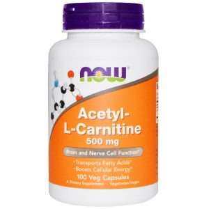 Acetyl-L Carnitine, 500 mg, 100 Veg Capsules (Now Foods)