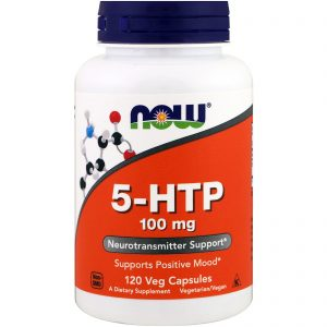 5-HTP, 100 mg, 120 Veg Capsules (Now Foods)