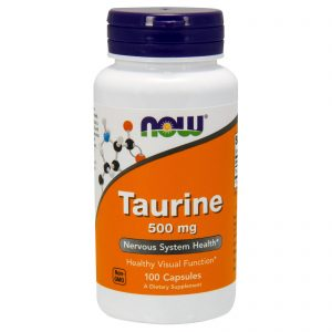 Taurine, 500 mg, 100 Capsules (Now Foods)
