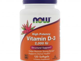 Vitamin D-3 High Potency , 2,000 IU, 120 Softgels (Now Foods)