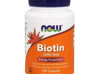 Biotin, 1000 mcg, 100 Capsules (Now Foods)