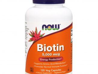 Biotin, 5,000 mcg, 120 Veg Capsules (Now Foods)