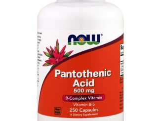 Pantothenic Acid, 500 mg, 250 Capsules (Now Foods)