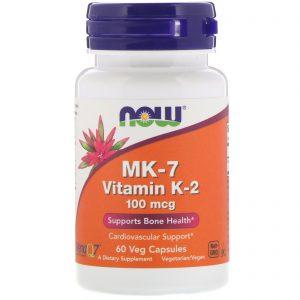 MK-7 Vitamin K-2, 100 mcg, 60 Veg Capsules (Now Foods)