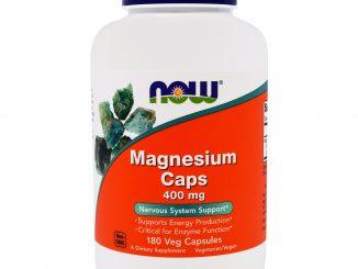 Magnesium Caps, 400 mg, 180 Veggie Caps (Now Foods)
