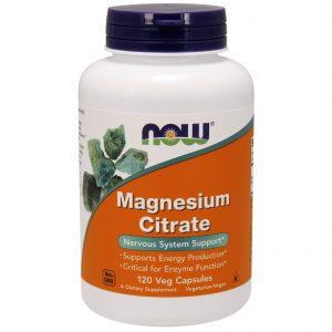 Magnesium Citrate, 120 Veg Capsules (Now Foods)