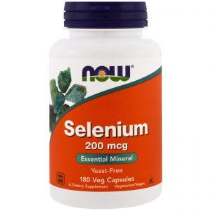 Selenium, 200 mcg, 180 Veggie Caps (Now Foods)