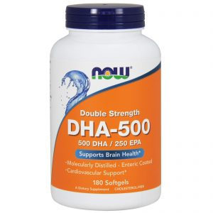 DHA-500/EPA-250, Double Strength, 180 Softgels (Now Foods)