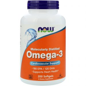 Omega-3, 180 EPA/120 DHA, 200 Softgels (Now Foods)
