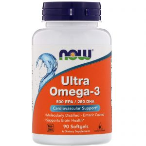 Ultra Omega-3, 500 EPA/250 DHA, 90 Softgels (Now Foods)