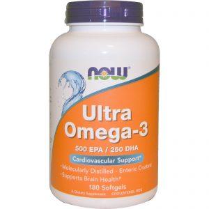 Ultra Omega-3, 500 EPA/250 DHA, 180 Softgels (Now Foods)