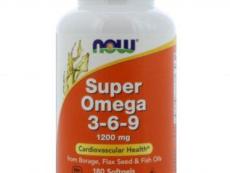 Super Omega 3-6-9, 1200 mg, 180 Softgels (Now Foods)