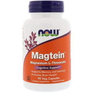 Magtein, Magnesium L-Threonate, 90 Veg Capsules (Now Foods)