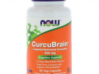 CurcuBrain, Cognitive Support, 400 mg, 50 Veg Capsules (Now Foods)