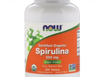 Certified Organic Spirulina, 500 mg, 500 Tablets (Now Foods)