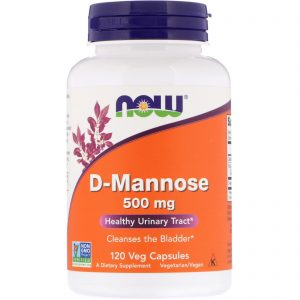 D-Mannose, 500 mg, 120 Veg Capsules (Now Foods)