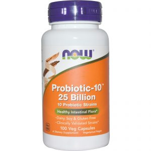 Probiotic-10, 25 Billion, 100 Veg Capsules (Now Foods)
