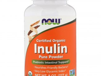 Certified Organic Inulin, Prebiotic Pure Powder, 8 oz (227 g) (Now Foods)