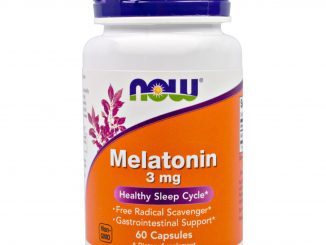 Melatonin, 3 mg, 60 Capsules (Now Foods)