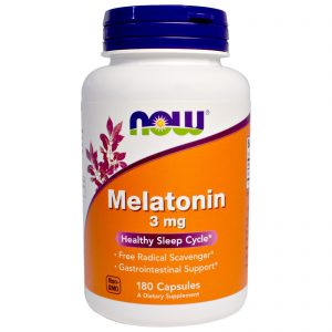 Melatonin, 3 mg, 180 Capsules (Now Foods)