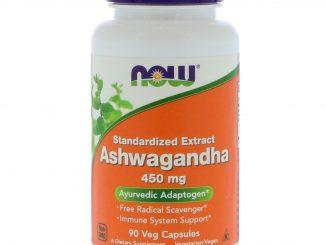Ashwagandha, 450 mg, 90 Veg Capsules (Now Foods)