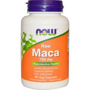 Maca, Raw, 750 mg, 90 Veg Capsules (Now Foods)
