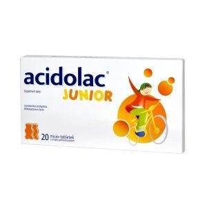 Acidolac Junior, misio-tabletki, smak pomarańczowy, 20 szt. / (Medana)