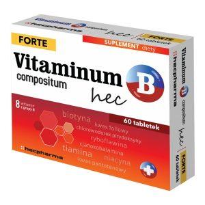 Vitaminum B compositum Forte hec, tabletki, 60 szt. / (Hecpharma)