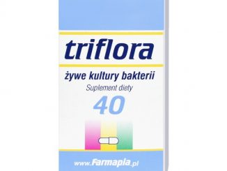 Triflora, Żywe kultury bakterii, kapsułki, 40 szt. / (Farmapia)