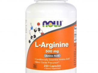 L-Arginine, 500 mg, 250 Capsules (Now Foods)