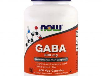 GABA, 500 mg, 200 Veg Capsules (Now Foods)